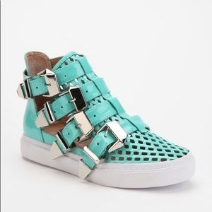 Jeffrey Campbell Indie Buckle High-Top Sneaker